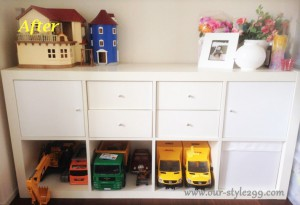 事例紹介3-2 After 『お気に入りのおもちゃは定位置を決めて収納』