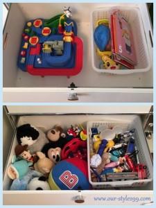 事例紹介4-6 『子供が出しやすい空間をあけて収納』